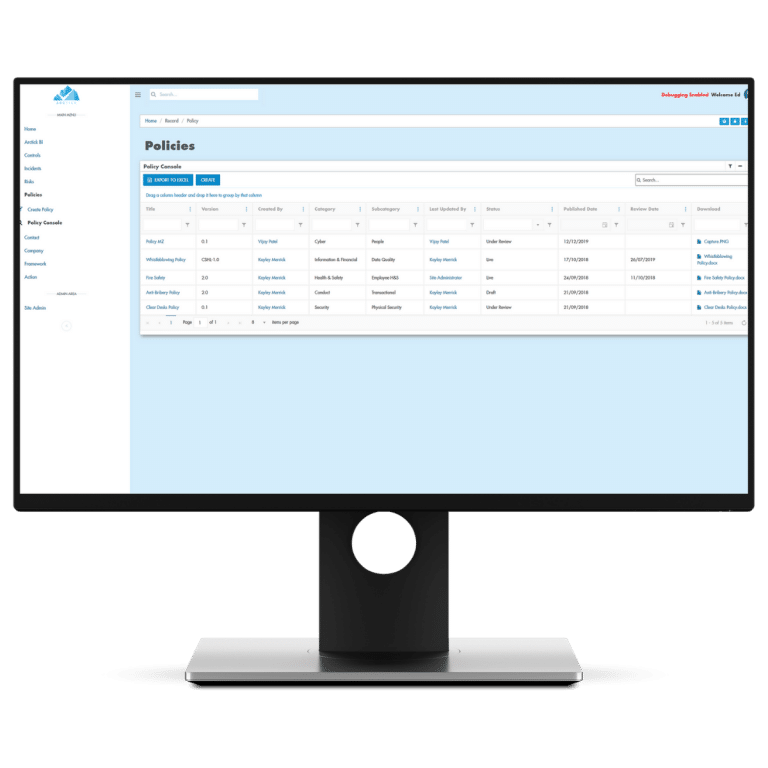 Designed to follow a typical policy process, our policy module enables you to create and keep track of your own company policies, complete with distribution and trackable compliance.