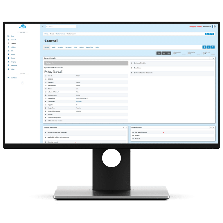 Our automated task allocation system ensures best practice, helping you to identify weakness, estimate control cost and reduce the impact and the likelihood of materialising risk events.